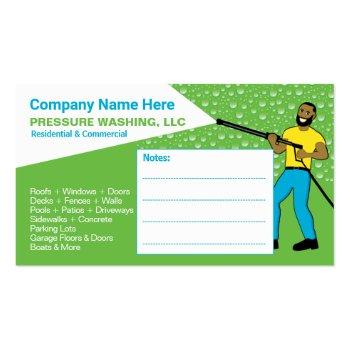Small Pressure Washing & Cleaning Template Business Card Back View