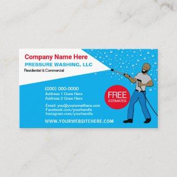 pressure washing & cleaning template business card