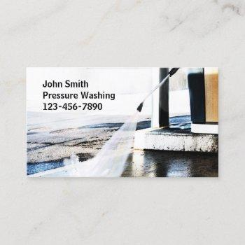 pressure washing connect with your customer business card