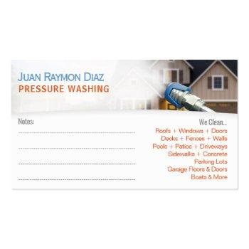 Small Pressure Washing & Power Cleaning Template Business Card Back View