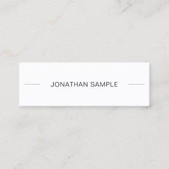 pretty minimalist modern sophisticated sleek plain mini business card