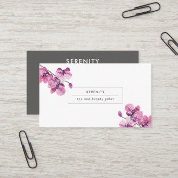 pretty orchids feminine business card