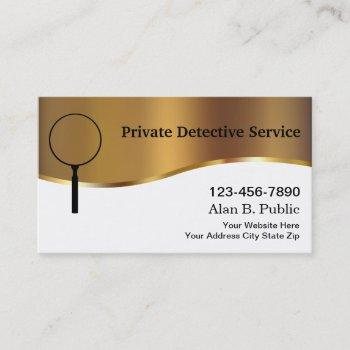 private detective business cards