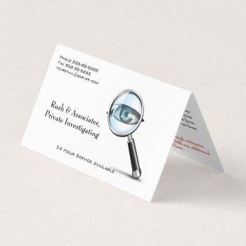 private investigator detective business card