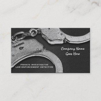 private investigator law detective enforcement business card