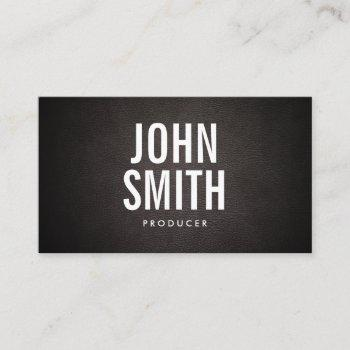 producer minimal bold text elegant business card