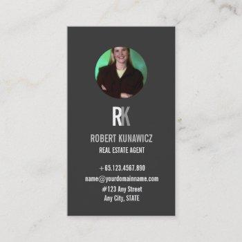 professiona real estate agent photo business card