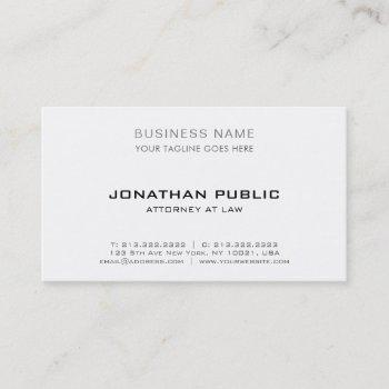 professional attorney lawyer modern elegant simple business card