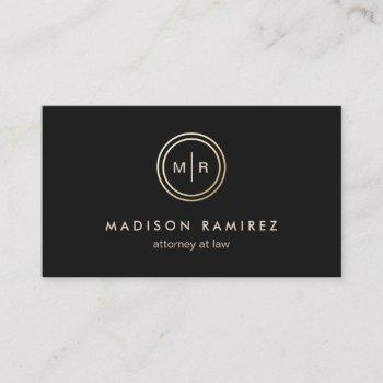 professional attorney lawyer modern monogram logo business card