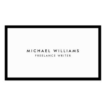 Small Professional Black And White Business Card Front View