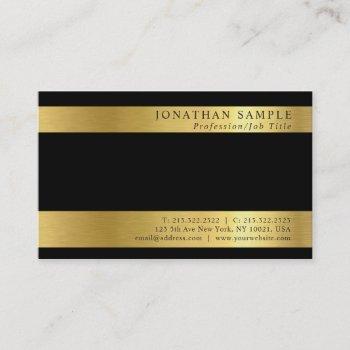 professional black gold signature uv matte luxe business card