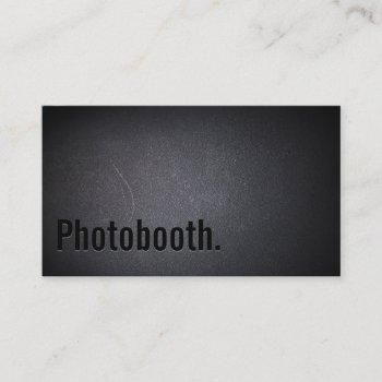 professional black out photo booth business card