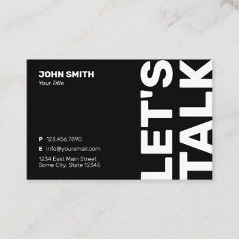 professional bold minimalist modern business card