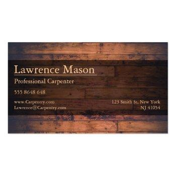 Small Professional Builder / Carpenter Business Card Back View
