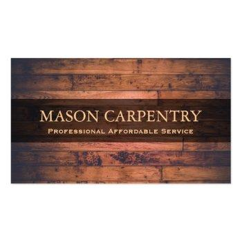 Small Professional Builder / Carpenter Business Card Front View