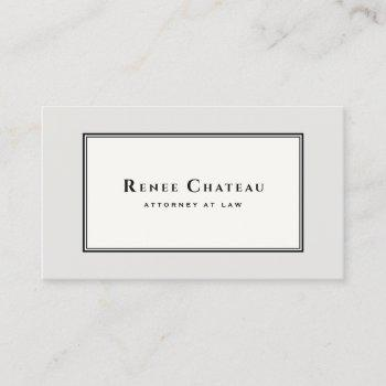 professional classic elegant brown taupe attorney business card