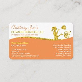professional cleaning/janitorial housekeeping serv business card