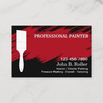 professional cool modern painter business card