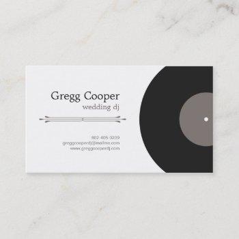professional dj business card