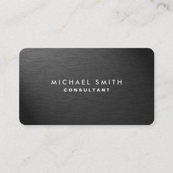 professional elegant black modern plain metal business card