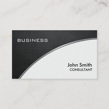 professional elegant metal black white groupon business card