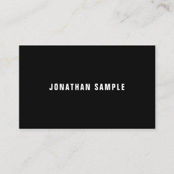 professional elegant minimalist modern b&w plain business card