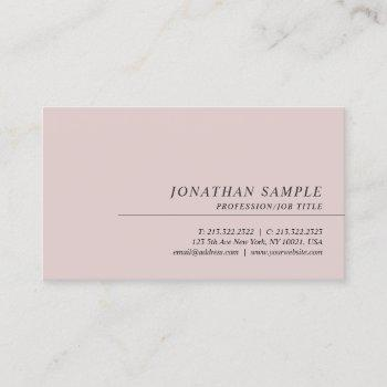 professional elegant minimalist template modern business card