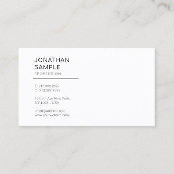 professional elegant modern design simple plain business card