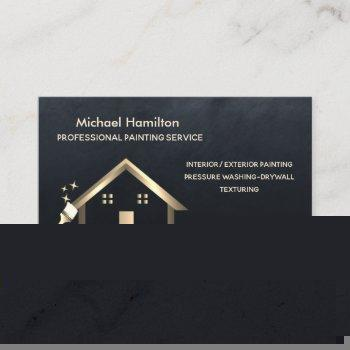 professional elegant modern painting service business card