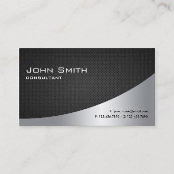 professional elegant modern plain black silver business card