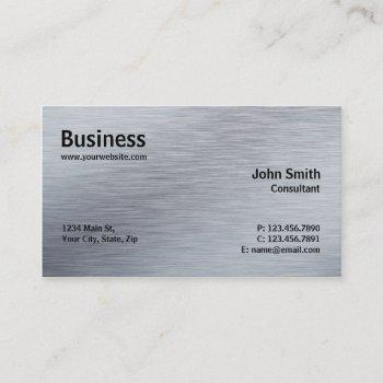 professional elegant modern plain silver metal business card