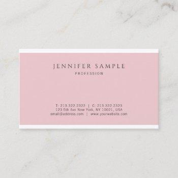 professional elegant pink modern simple design business card