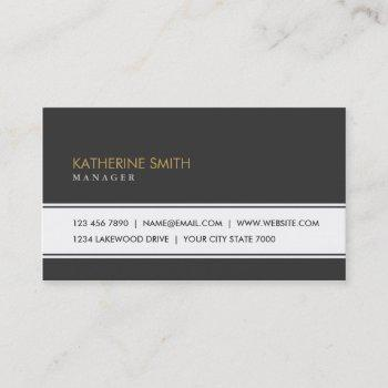 professional elegant plain simple black groupon business card