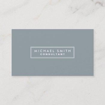 professional elegant plain simple gray business card