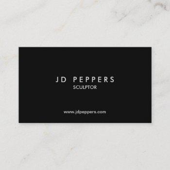 professional elegant ~ silver metallic font business card