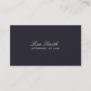 professional elegant simple plain attorney groupon business card