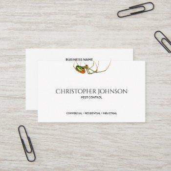 professional exterminator pest control custom logo business card