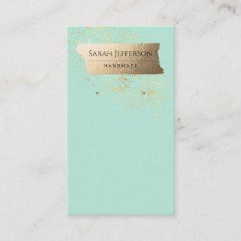 professionalfaux gold minimalist earring card