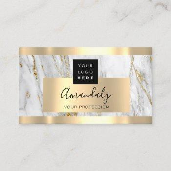 professional finance investment marble gold logo business card