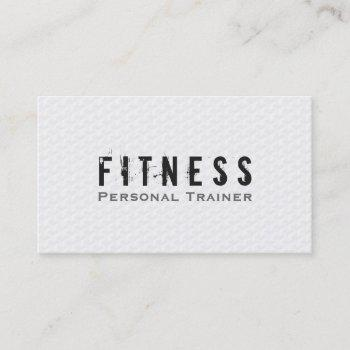 professional fitness personal trainer simply white business card