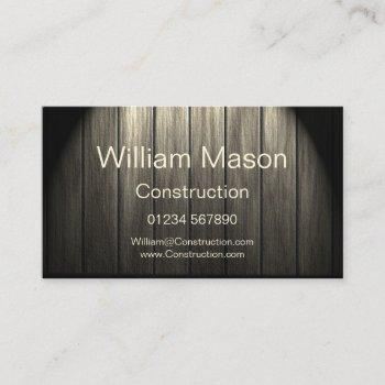 professional flooring / carpenter business card