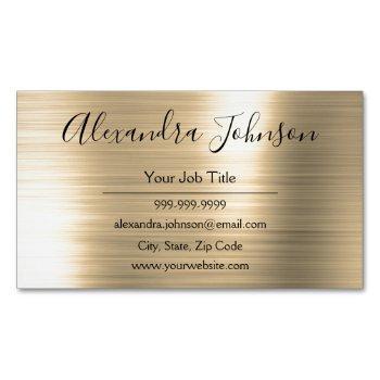 professional gold foil modern business card magnet