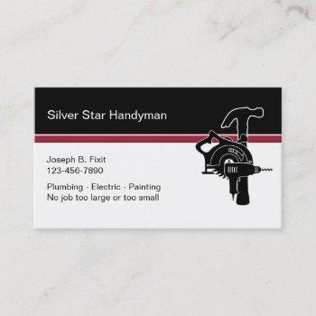 professional handyman business cards