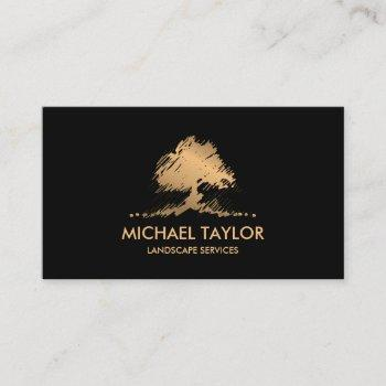 professional landscape tree service and lawn care business card