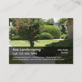 professional landscaping businesscards business card