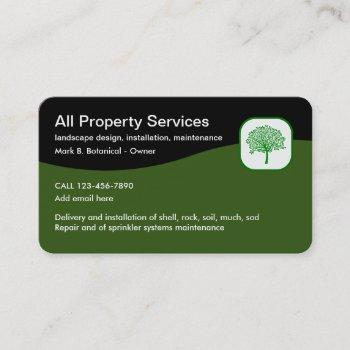 professional landscaping services business card