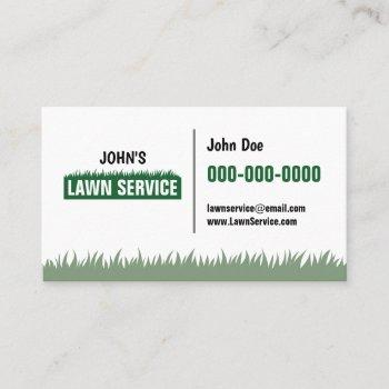 professional lawn service double sided business card