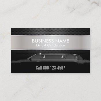 professional limousine service business card