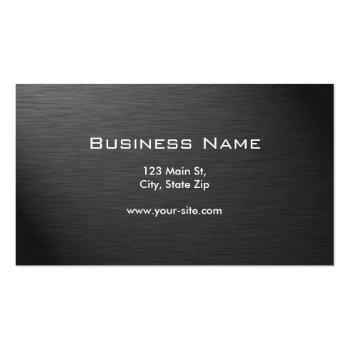 Small Professional Metal Elegant Modern Plain Black Business Card Back View
