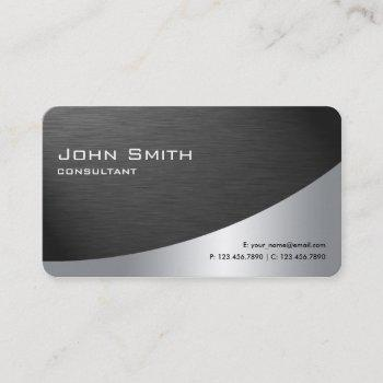 professional metal elegant modern simple black business card